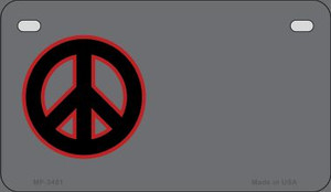 Peace Offset Wholesale Novelty Metal Motorcycle Plate MP-3481