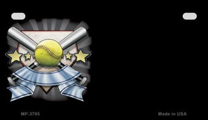 Softball Banner Offset Wholesale Novelty Metal Motorcycle Plate MP-3795