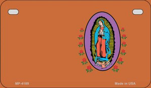 Virgin Mary Copper Offset Wholesale Novelty Metal Motorcycle Plate MP-4189