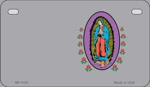 Virgin Mary Gray Offset Wholesale Novelty Metal Motorcycle Plate MP-4191