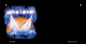 Basketball Offset Wholesale Novelty Metal Bicycle Plate BP-3785