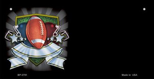 Football Banner Offset Wholesale Novelty Metal Bicycle Plate BP-3791