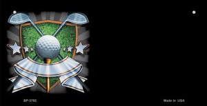 Golf Banner Offset Wholesale Novelty Metal Bicycle Plate BP-3792
