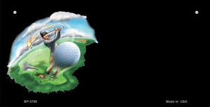Golf Offset Wholesale Novelty Metal Bicycle Plate BP-3798