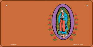 Virgin Mary Copper Offset Wholesale Novelty Metal Bicycle Plate BP-4189