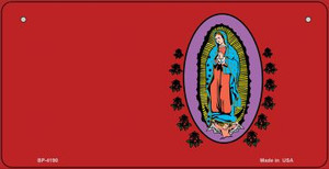 Virgin Mary Red Offset Wholesale Novelty Metal Bicycle Plate BP-4190
