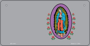 Virgin Mary Gray Offset Wholesale Novelty Metal Bicycle Plate BP-4191