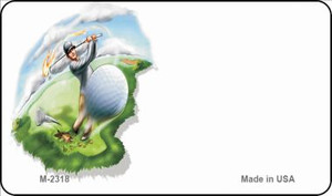 Golf Offset Wholesale Novelty Metal Magnet M-2318
