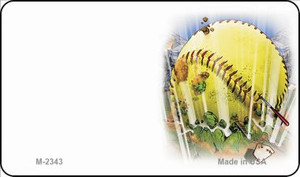 Softball Offset Wholesale Novelty Metal Magnet M-2343