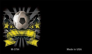 Soccer Banner Offset Wholesale Novelty Metal Magnet M-3794