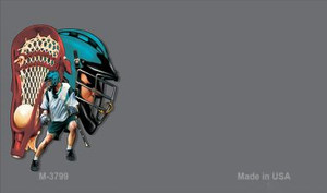 Lacrosse Offset Wholesale Novelty Metal Magnet M-3799