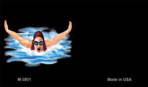 Female Swimmer Offset Wholesale Novelty Metal Magnet M-3801