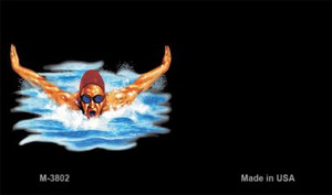 Male Swimmer Offset Wholesale Novelty Metal Magnet M-3802
