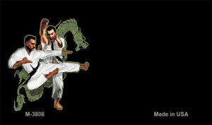 Karate Offset Wholesale Novelty Metal Magnet M-3806