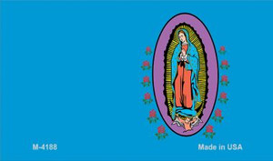 Virgin Mary Blue Offset Wholesale Novelty Metal Magnet M-4188