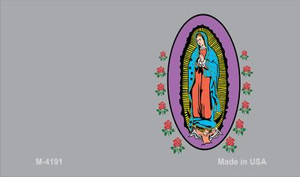 Virgin Mary Gray Offset Wholesale Novelty Metal Magnet M-4191
