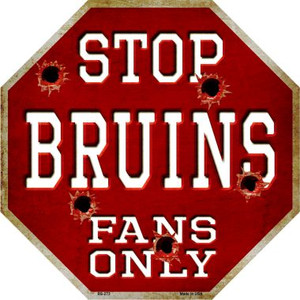Bruins Fans Only Wholesale Metal Novelty Octagon Stop Sign BS-273