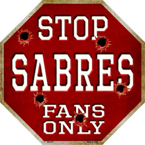 Sabres Fans Only Wholesale Metal Novelty Octagon Stop Sign BS-274