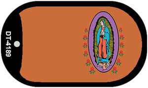 Virgin Mary Copper Offset Wholesale Novelty Metal Dog Tag Necklace DT-4189