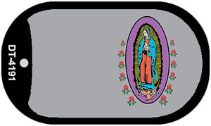 Virgin Mary Gray Offset Wholesale Novelty Metal Dog Tag Necklace DT-4191