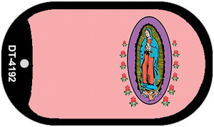 Virgin Mary Pink Offset Wholesale Novelty Metal Dog Tag Necklace DT-4192