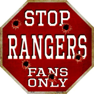 Rangers Fans Only Bullet Wholesale Metal Novelty Octagon Stop Sign
