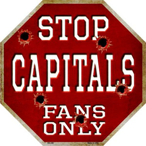 Capitals Fans Only Wholesale Metal Novelty Octagon Stop Sign BS-286