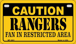 Caution Rangers Fan Area Wholesale Novelty Metal Motorcycle Plate MP-2661