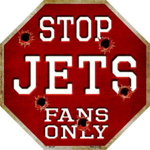 Jets Fans Only Bullet Wholesale Metal Novelty Octagon Stop Sign