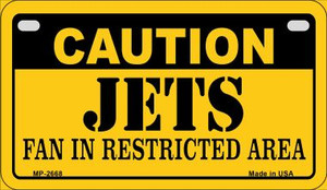Caution Jets Fan Area Wholesale Novelty Metal Motorcycle Plate MP-2668