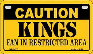 Caution Kings Fan Area Wholesale Novelty Metal Motorcycle Plate MP-2677