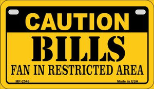 Caution Bills Fan Area Wholesale Novelty Metal Motorcycle Plate MP-2548