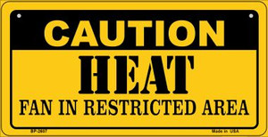 Caution Heat Fan Area Wholesale Novelty Metal Bicycle Plate BP-2607