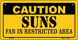 Caution Suns Fan Area Wholesale Novelty Metal Bicycle Plate BP-2616