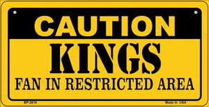 Caution Kings Fan Area Wholesale Novelty Metal Bicycle Plate BP-2618