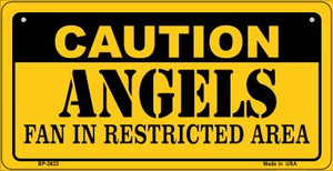 Caution Angels Fan Area Wholesale Novelty Metal Bicycle Plate BP-2623