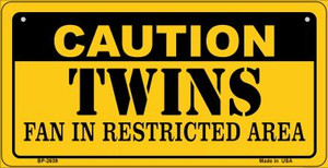 Caution Twins Fan Area Wholesale Novelty Metal Bicycle Plate BP-2639