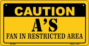 Caution As Fan Area Wholesale Novelty Metal Bicycle Plate BP-2642
