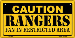Caution Rangers Fan Area Wholesale Novelty Metal Bicycle Plate BP-2648