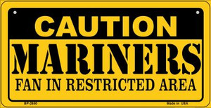 Caution Mariners Fan Area Wholesale Novelty Metal Bicycle Plate BP-2650