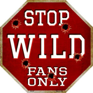 Wild Fans Only Wholesale Metal Novelty Octagon Stop Sign BS-297