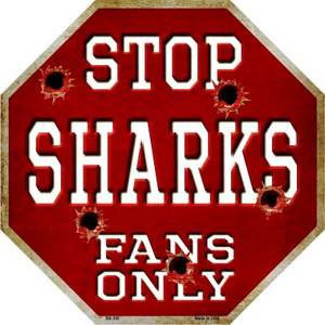 Sharks Fans Only Wholesale Metal Novelty Octagon Stop Sign BS-300