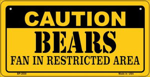Caution Bears Fan Area Wholesale Novelty Metal Bicycle Plate BP-2530