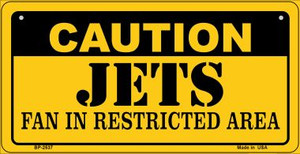 Caution Jets Fan Area Wholesale Novelty Metal Bicycle Plate BP-2537