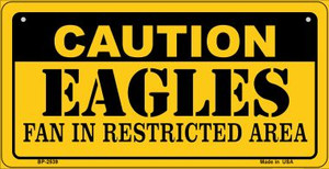 Caution Eagles Fan Area Wholesale Novelty Metal Bicycle Plate BP-2539