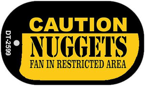 Caution Nuggets Fan Area Wholesale Novelty Metal Dog Tag Necklace DT-2599