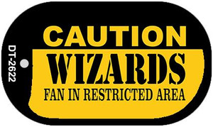 Caution Wizards Fan Area Wholesale Novelty Metal Dog Tag Necklace DT-2622