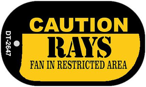 Caution Rays Fan Area Wholesale Novelty Metal Dog Tag Necklace DT-2647