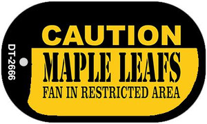 Caution Maple Leafs Fan Area Wholesale Novelty Metal Dog Tag Necklace DT-2666