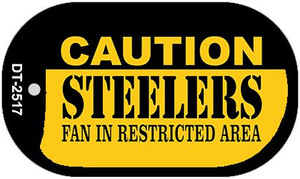 Caution Steelers Fan Area Wholesale Novelty Metal Dog Tag Necklace DT-2517